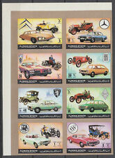Ajman 1972 ** Mi.1418/25 B Zdr. Automobile automobiles Mercedes Benz Fiat Ford