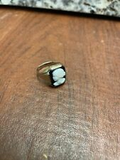 Vintage Art Deco 18k Solid White Gold Cameo Ring Size 9.75 6.91g Not Scrap
