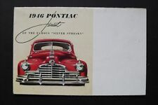 """Vintage 1946 PONTIAC advertising brochure, Finest of The Famous """"Silver Streaks"""""""