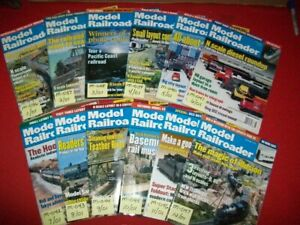 12-VINTAGE COLLECTIBLE MODEL RAILROADER MAGAZINE ISSUES 2001 LISTING #2/5 EXC.