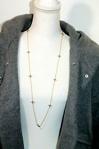 Sterling silver Necklaces .925 Cubic zirconia Gold plated Link Long statement