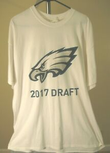 Philadelphia Eagles NFL Classic White 2017 Draft 2XL T-Shirt
