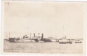 rppc circa WW1 USS WICKES US NAVY SHIP DAZZLE CAMOUFLAGE