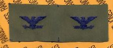 USAF Air Force Col. O-6 Colonel OD Green & Blue rank patch set