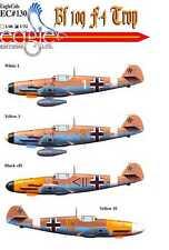 EagleCals Decals 1/32 MESSERSCHMITT Bf-109F-4 TROP Fighter Part 1