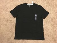 Gap Men`s Everyday Crewneck Tee Short Sleeve T Shirt Top Black NWT