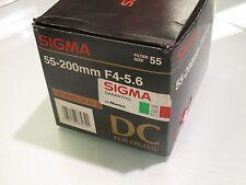 SIGMA 55 - 200 MM F 4 - 5.6  DC FOR SONY MINOLTA AF D