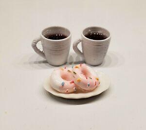 1/6 Scale Coffee & Donuts 4 Barbie Phicen Blythe Poppy Parker Doll Miniature FR