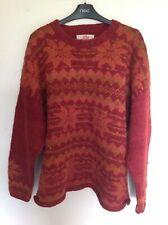 Amano Fairisle Red Wool Jumper M/L