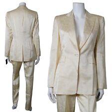 Louis Féraud Contraire Elegant Silk Pants Blazer 2Pc Pants Suit Set Sz 6 NEW $1K