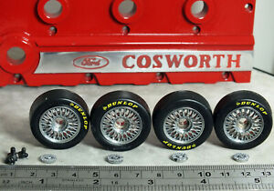 1:18 Minichamps Ford Sierra RS COSWORTH WHEELS & Dunlop Tyres MODIFIED TUNING