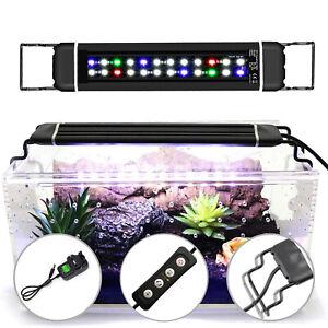 30-45CM Aquarium Fish Tank Pond RGB LED Lights Bar Lamp Submersible Lights