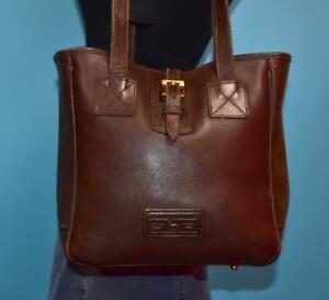 DOONEY & BOURKE Larger E/W Brown Leather Buckle Tote Shopper Shoulder Purse Bag
