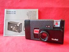 Fotokamera Rollei A 26  Objektiv Made by Rollei Sonnar 3,5/40 mit Bedienungsanle