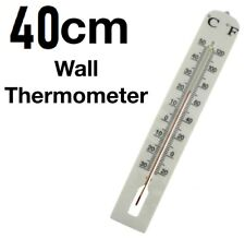 More details for indoor/outdoor thermometer wall large jumbo giant 40x6 cm celsius and fahrenheit