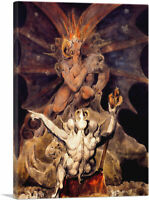 ARTCANVAS The Number of the Beast is 666 Canvas Art Print by William Blake