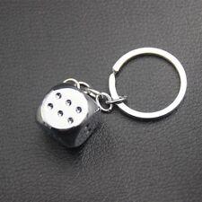 Metal Dice Alloy Key Holder Pendant Keychain for Car Key Ring Man Women Gift