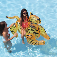 Rare Inflatable Tiger Pool Ride-On 73 x 35 x 35 inches