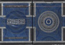 Grinders Blue Playing Cards Poker Size Deck LPCC Custom Limited Edition Sealed
