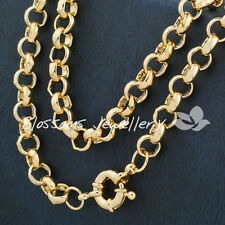 """9K 9CT Yellow GOLD GF Belcher RING RINGS LINK CHAIN 19.5"""" Womens NECKLACE S14G"""