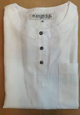 Camisa m - XXL - XXXL m.corto. algodón blanco H cuello mao 3 botones