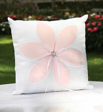 New Pink Satin Flower Blossom Wedding Ring Bearer Pillow