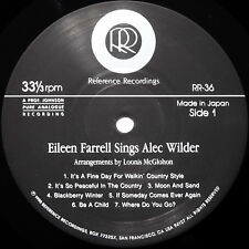 NEW AUDIOPHILE - EILEEN FARRELL / Sings Alee Wilder / Reference Recordings RR-36
