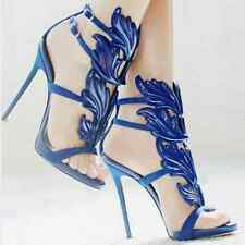 gladiator 13 cm Sexy Blue Blau peeptoes fetish sky sandals high heels 43 42 us11