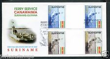 Suriname FDC E215 BP, BRUGPAREN/KEERDRUK, blanco met open klep