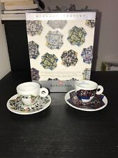 ILLY ART COLLECTION ORIGAMI MICHAEL BEUTLER 2 Espresso Cups set Box