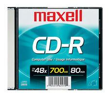 Maxell CD-R 48X 700MB 1-Pack Blank CD Slim Jewel Case