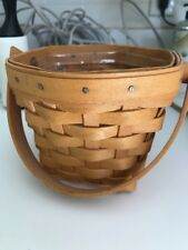 Longaberger American Cancer Society Basket 2001 With Plastic Protector