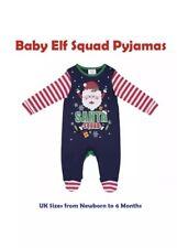 Para Niños Niños Navidad Navidad Novedad Santa Pijamas Verde Stripe Multi 0-3 mes