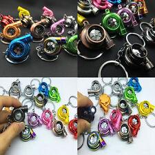 New Creative LED TURBO Key Chain Ring Keyring Keyfob Gifts Spinning Fan Keychain