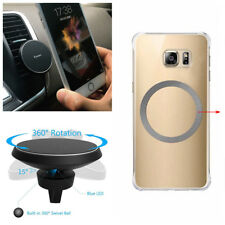 360° Car QI Wireless Charger Holder Magnetic Air Vent Mount for SAMSUNG iPhone