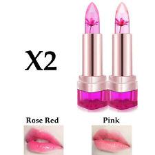 2 X Jelly Lip Stick Flower Color Temperature Change Lipstick