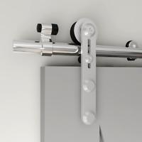 4-14FT Glass/Wood Stainless Steel Sliding Barn Door Hardware Kit Single/Double