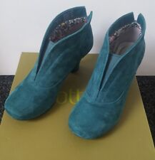 Hotter Danielle shoes boots UK 4 Std. Deep Teal Suede leather. Bestsellers Boxed