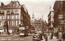 Charing  Cross Glasgow Tram Motor Car unused RP pc Valentines 1938