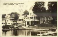 Lake George NY The Outlook Restaurant c1920 Real Photo Postcard