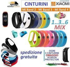 CINTURINO COLORATO MORBIDO PER XIAOMI Mi BAND 2 / 3 SMART Miband 4 STRAP WATCH