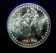 Bicentennial 1976 .999 Pure Silver 1 OZ. Medallion, Revolutionary Trio, Flags