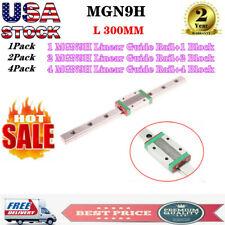 1x 2x 4x Mgn9h Mini Linear Guide Rail Way L300mm With Block Cnc 3d Printer Tools