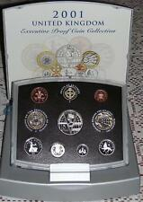 United Kingdom 2001 Executive Proof Set 10 coins collection COA & BOX Marconi
