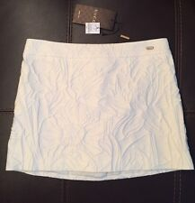 NWT GUCCI Cream Embossed Mini Skirt 40/4 MSRP $595 Italy