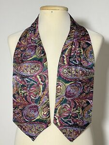 "BEAUTIFUL PURPLE ASCOT 100% SILK PAISLEY 48""/6"" EXCELLENT  CONDITION"
