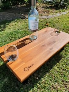 Grazing Board / Wine Picnic Table Holds 2 Wine Glasses /Cheese Board Flat Pack