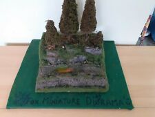 Diorama display base 1/32 1/24 Pine forest and dirt road with rocky hillside 5**