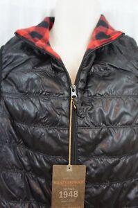 Original Weatherproof Mens Casual Vest Sz S Solid Black Full Zip Cotton Lining
