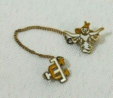 Vintage UT Longhorns University of Texas 10K Gold Filled Enamel Lapel Pin
